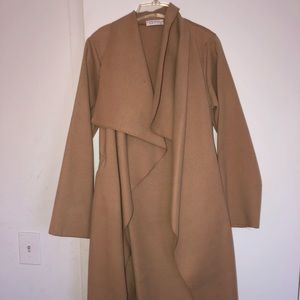Over sized waterfall coat